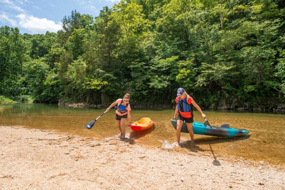 Kayaking at Echo-Bluff State Park, Missouri