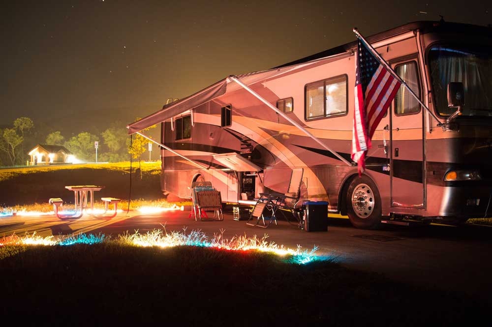 night scene at Echo-Bluff State Park, Missouri