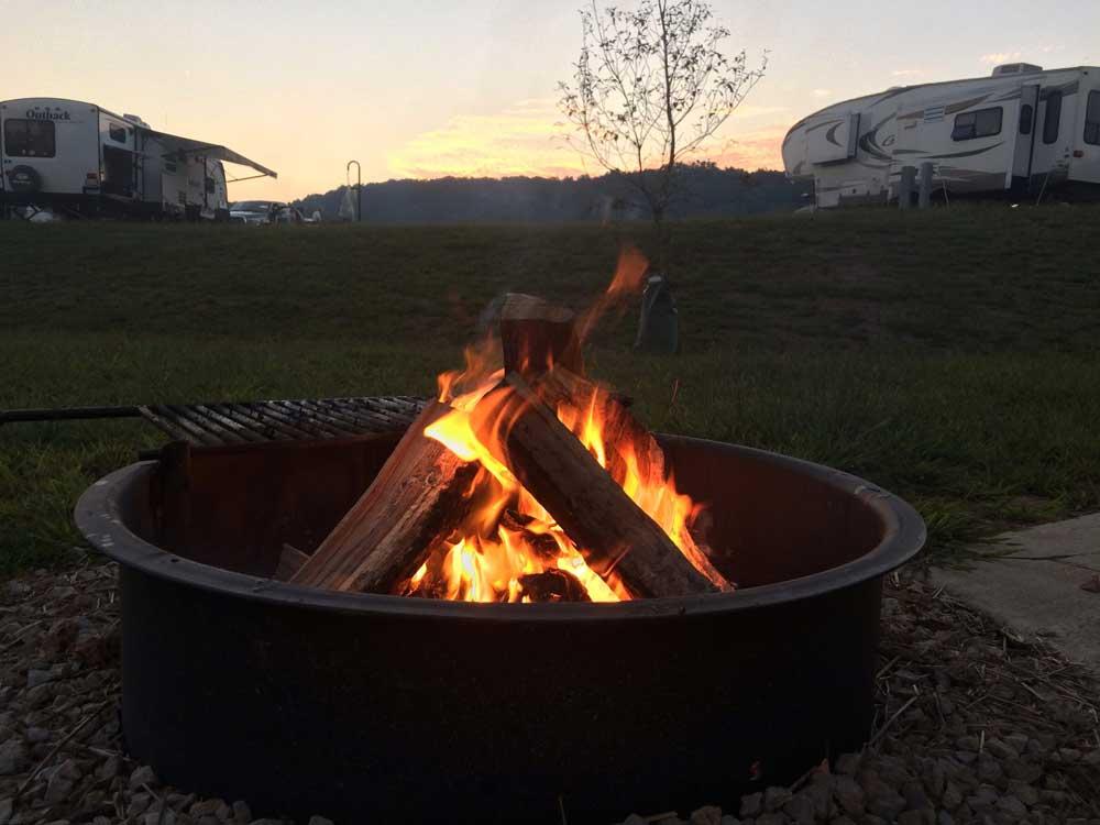 nightime at Echo-Bluff State Park, Missouri
