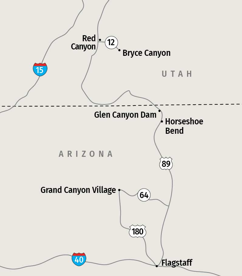 Grand Canyon locator map