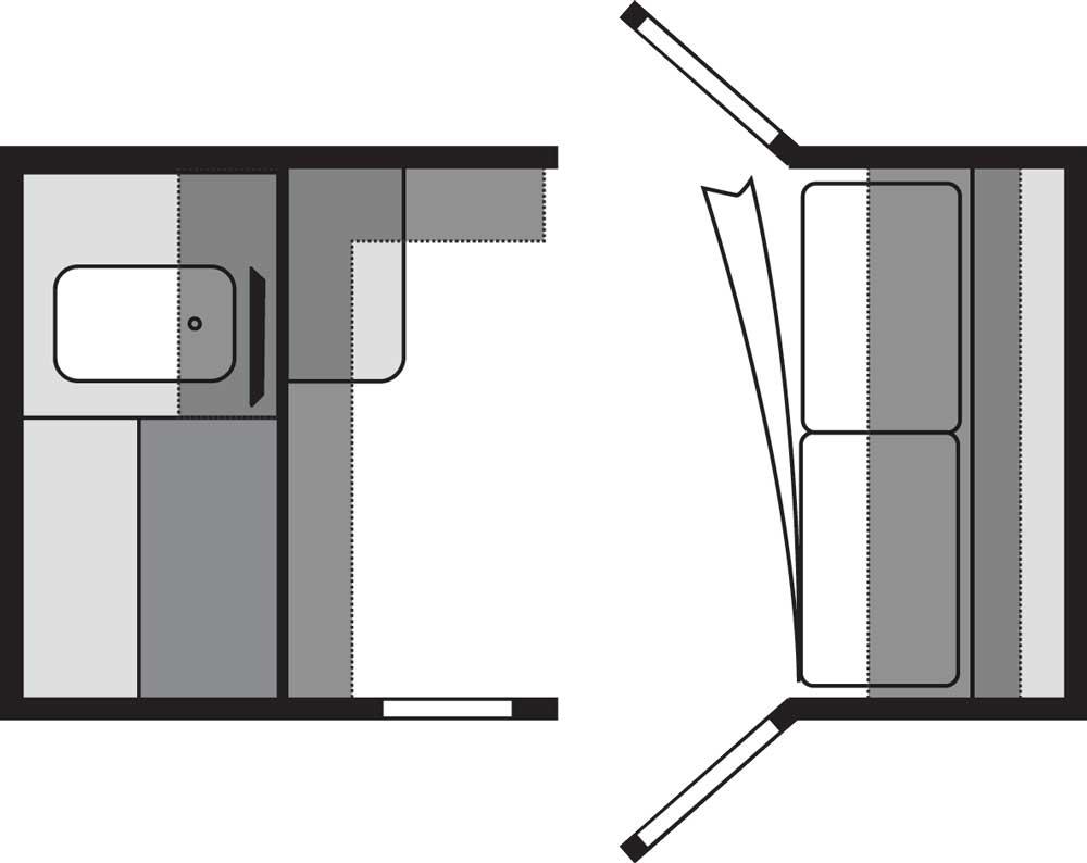 Jayco Hummingbird 10RK floorplan