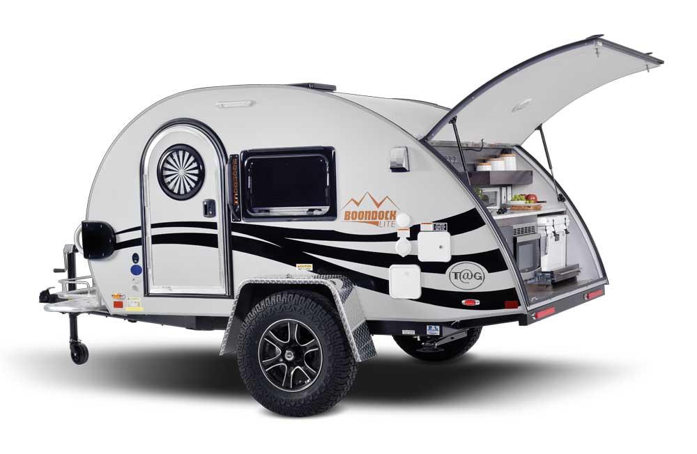 nüCamp TAG XL lightweigth travel trailer exterior