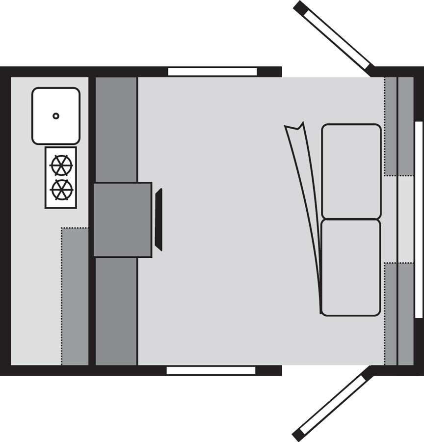nüCamp TAG XL Floorplan