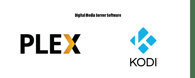Kodi and Plex logos