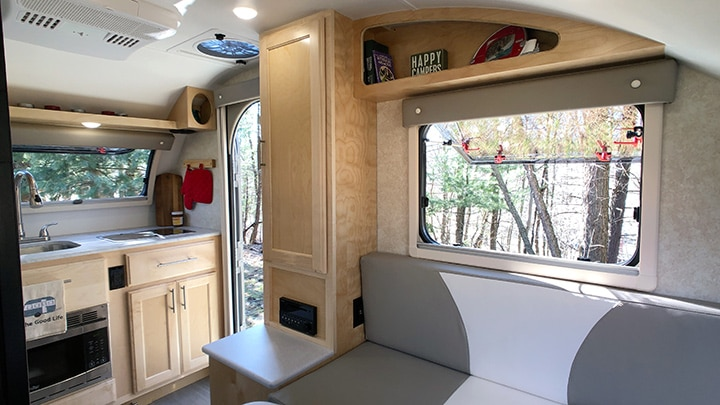 The inside of the Little Guy Mini Max has the feel of a much larger trailer.