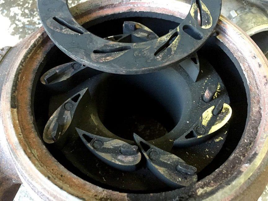 Close-up of black unison ring.