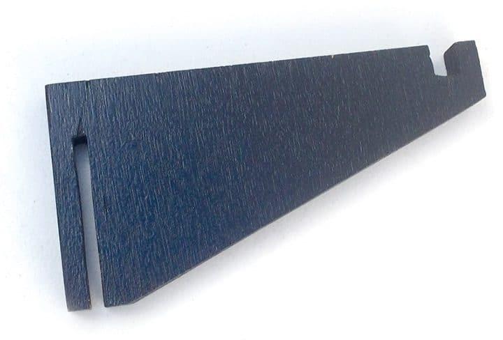Black bracket made of plywood