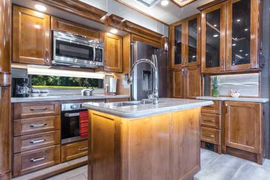 Vanleigh Beacon 42RDB interior galley