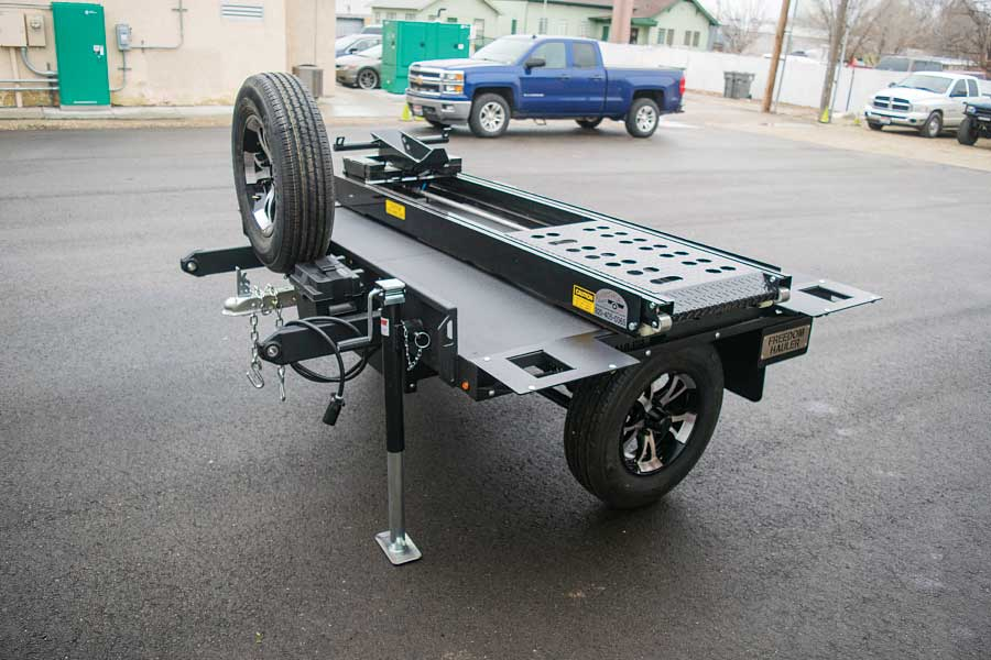 This 5-foot Freedom Hauler has upgraded wheels, deck extensions and a motorcycle loader.