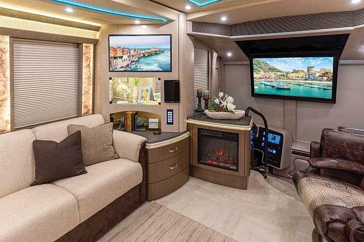 Marathon Coach Show Coach #1309 Class A motorhome interior