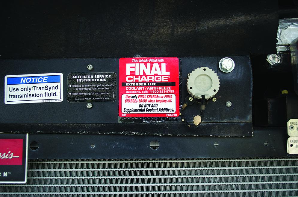 coolant sticker