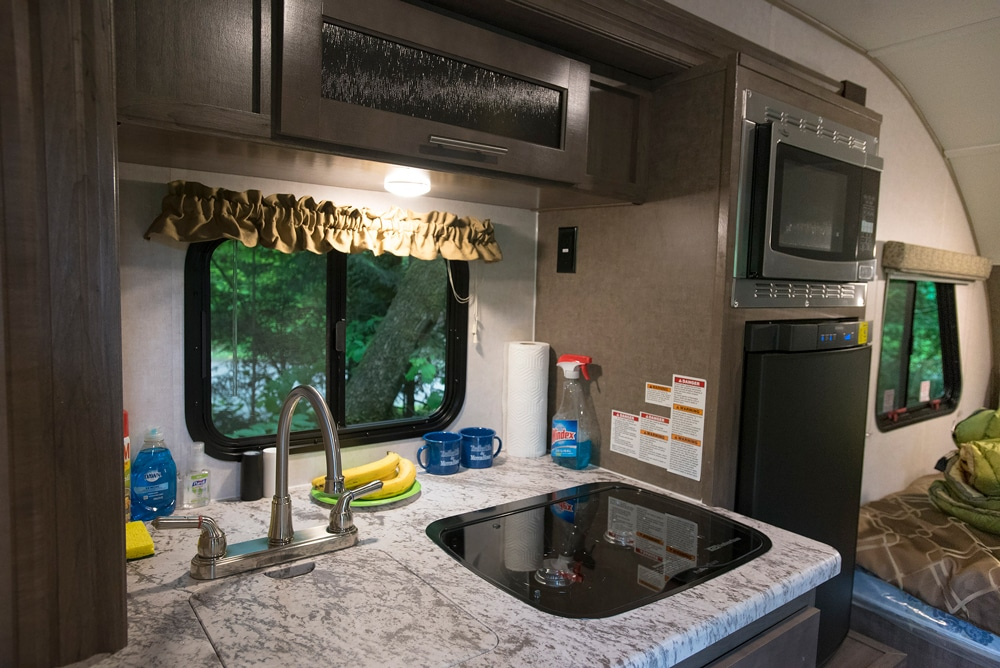 The overall feel inside the RP-180 is upscale, with well-known-brand appliances and tasteful appointments.