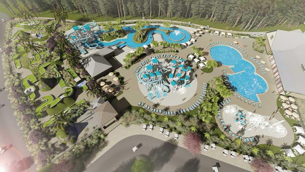 Sun RV Carolina Pines WaterPark Aerial