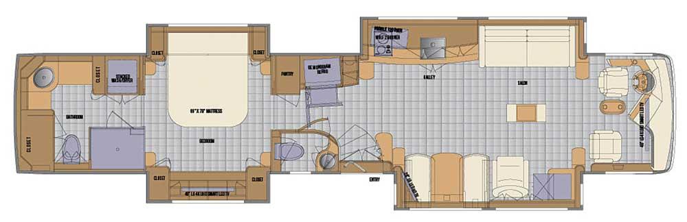 Newell Coach #1696 Class A motorhome floorplan