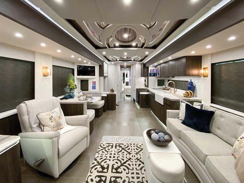 Luxury Motorhomes: Newell Coach #1696 Class A motorhome interior
