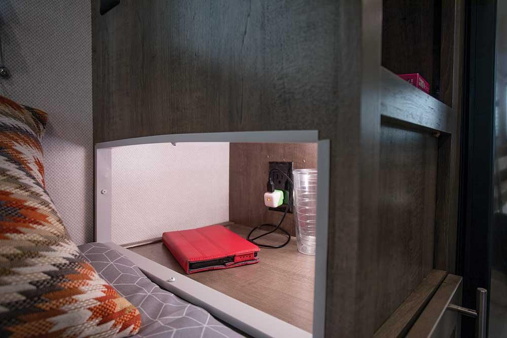 No-Boundaries travel trailer interior nightstands