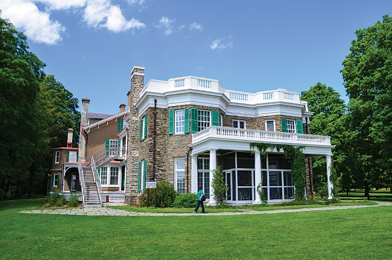 Springwood, the Hyde Park home of Franklin D. Roosevelt, sits on 200 acres above the river.