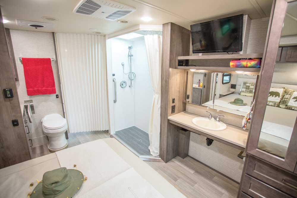 Winnebago Adventurer 30T AE interior bath area