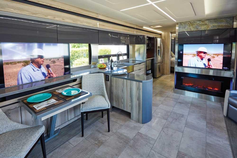 Winnebago Horizon interior living area