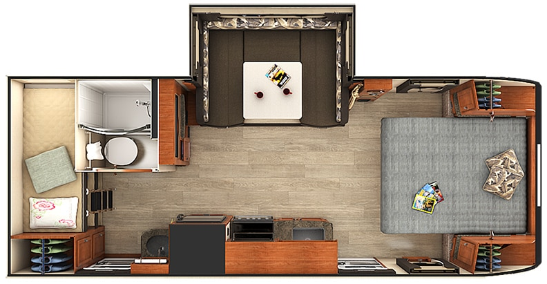 Floorplan illustration with slideout extended