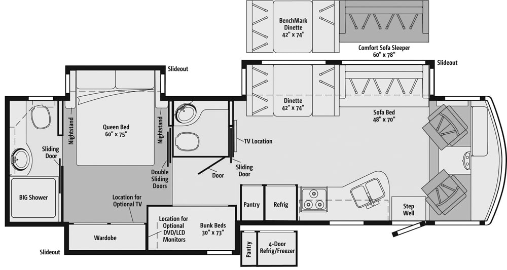 2013 Itasca Sunstar 35B Floorplan