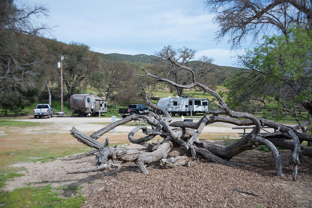 Pinnacles Campground has 30-amp electrical hookups and hot showers. An outdoor pool testifies to the fact that the national park campground was once a private park.