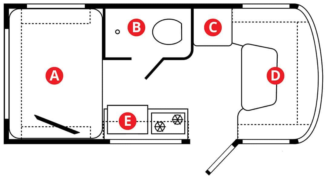 2020 inTech Sol Horizon floorplan illustration