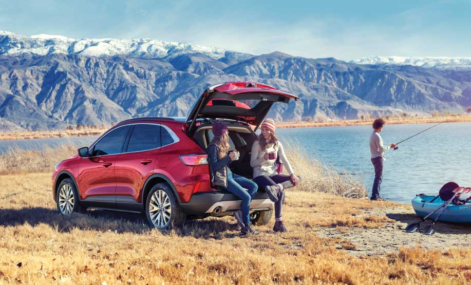 Ford Escape Hybrid in a campground setting