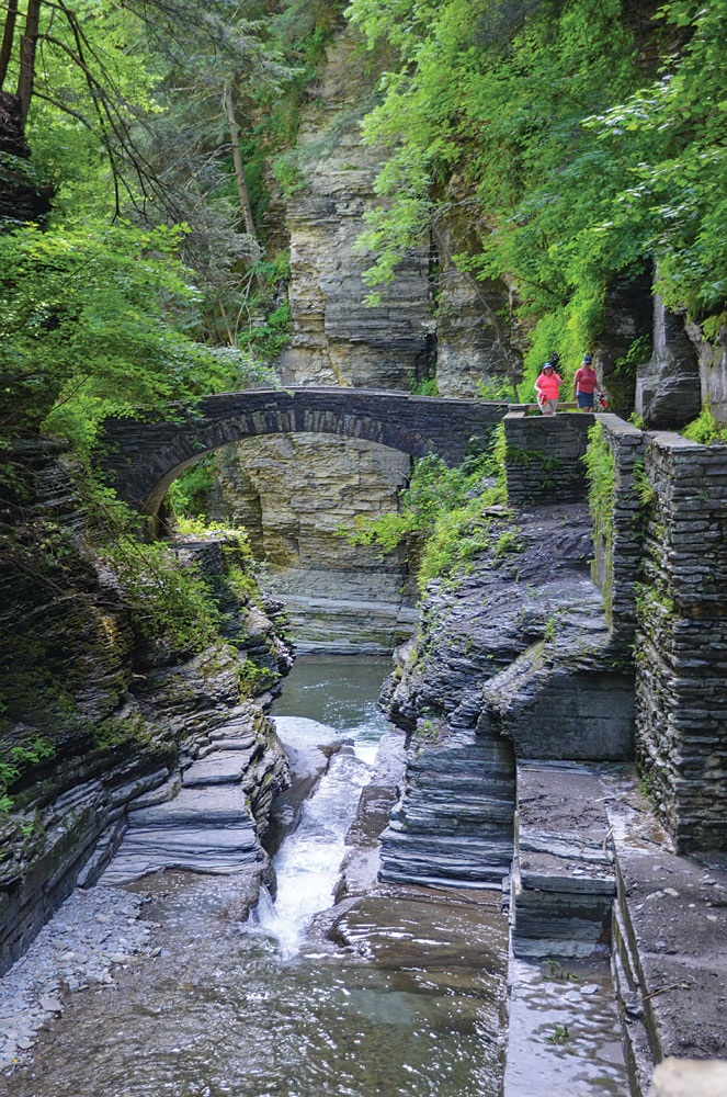 The 3-mile Gorge Trail at Robert H. Treman State Park leads to a dozen waterfalls and dramatic primordial views.