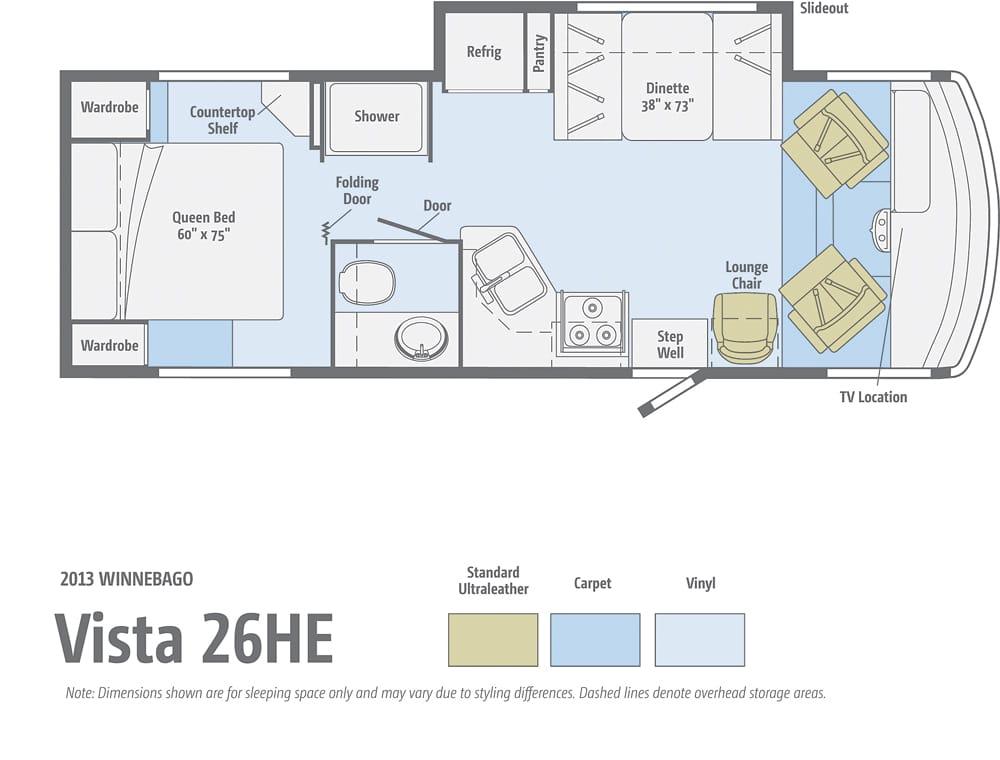 Winnebago Vista 26HE Floorplan