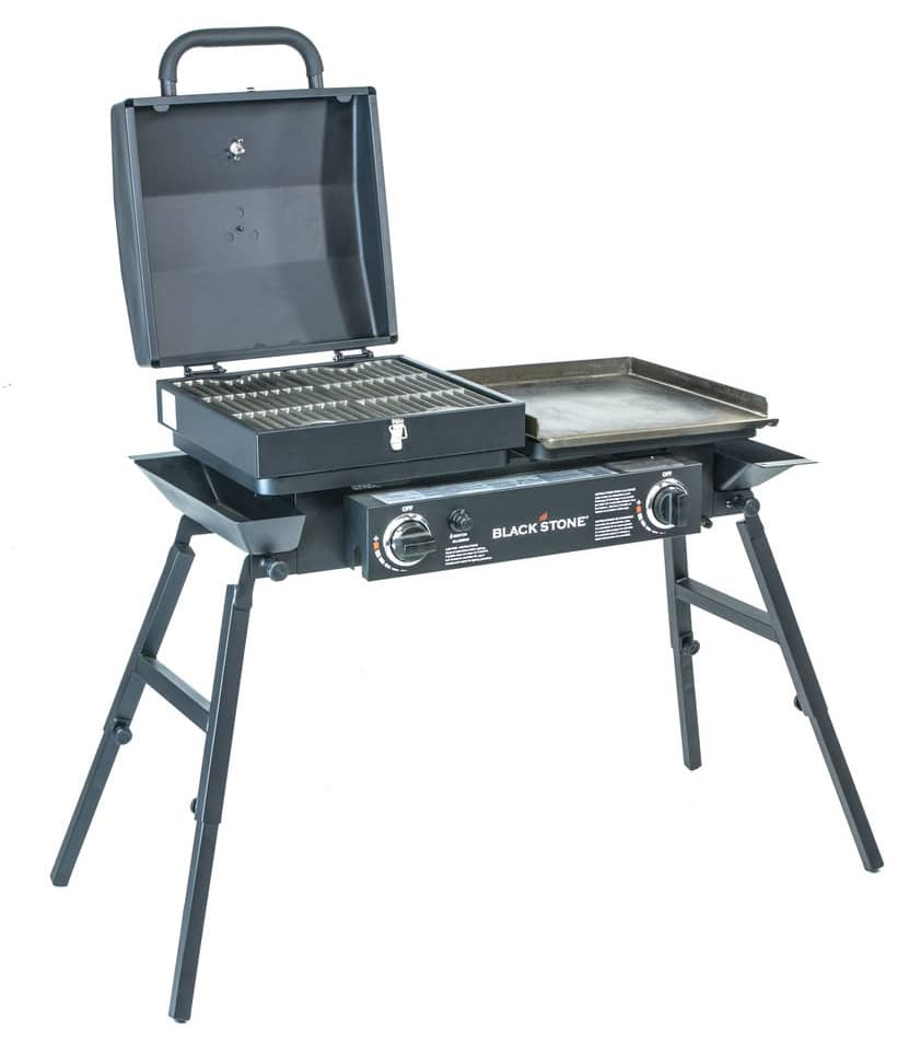 Outdoor tailgater combo griddle and grill