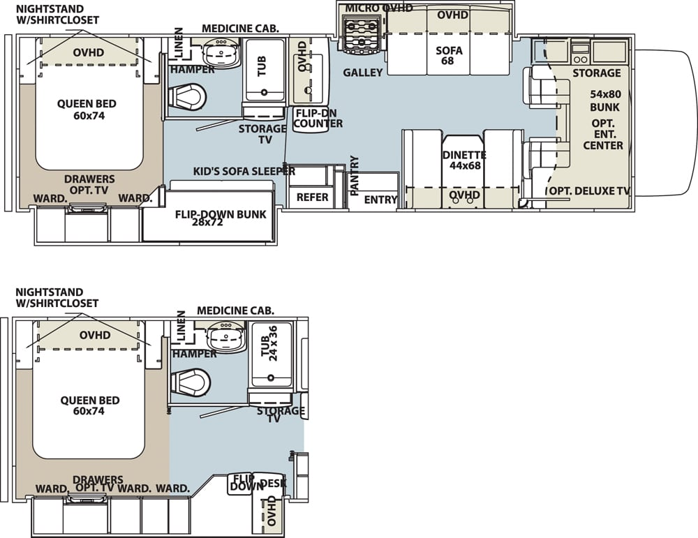 Forest River Forester 3171DS Floorplan