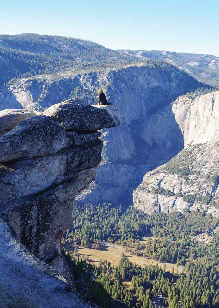 Visitors to Glacier Point may feel like they're on top of the world, with breathtaking sights in every direction.