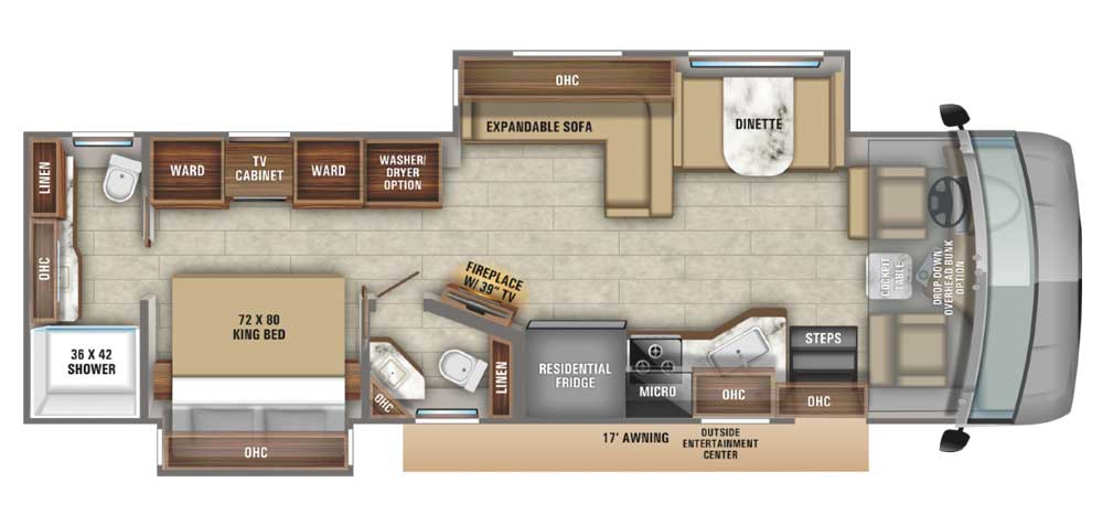 Jayco Precept Prestige floorplan