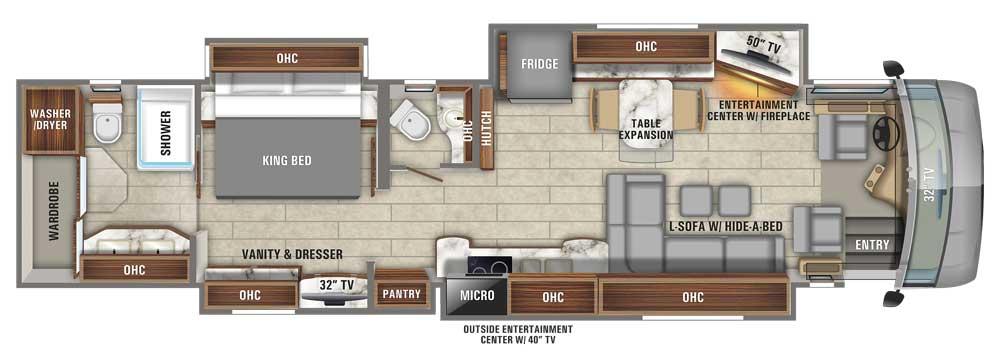 Entegra Cornerstone 45B floorplan