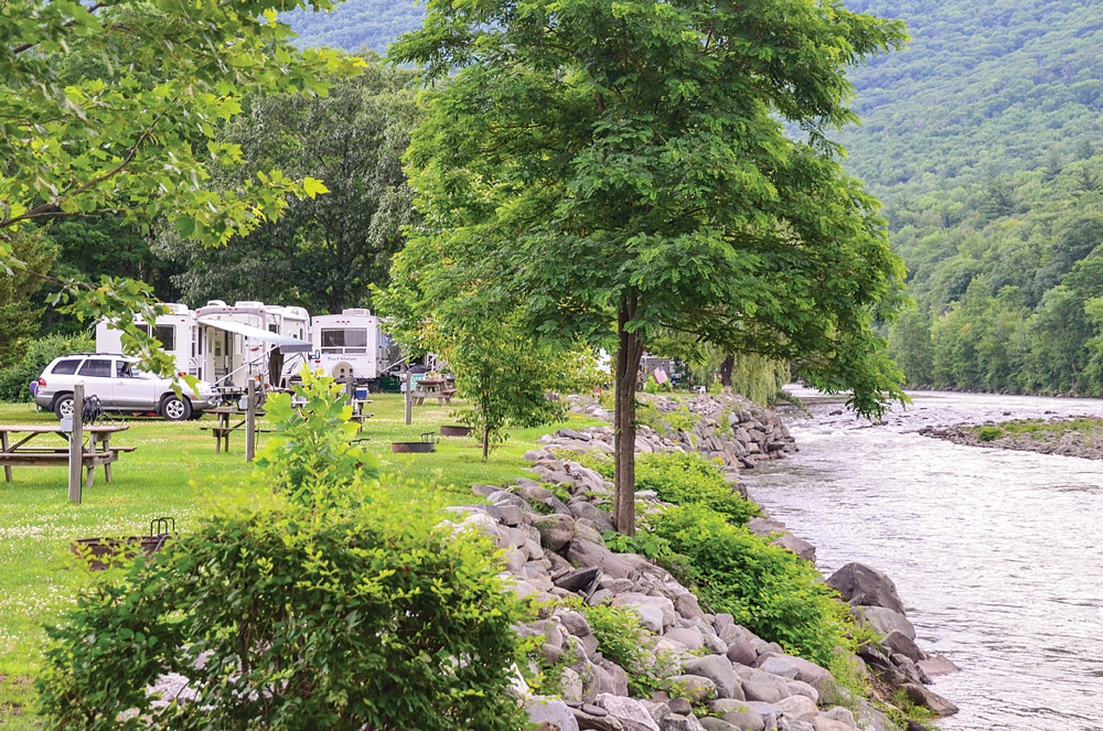 With its scenic vistas and recreational and sightseeing options, it's no wonder the Hudson River Valley has plenty of RV campgrounds, but peak-season reservations are recommended.