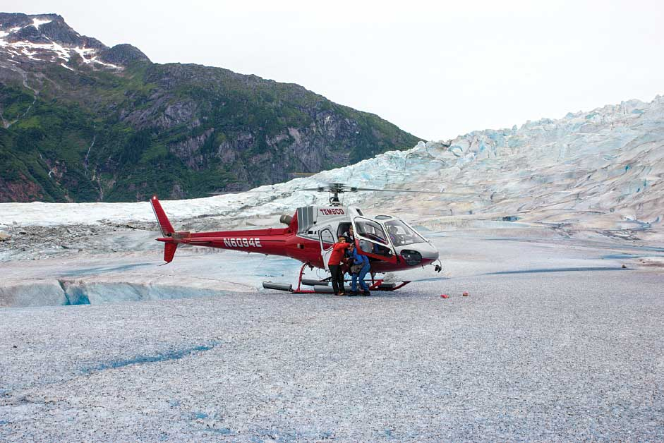 TEMSCO Helicopters Mendenhall Glacier near Juneau