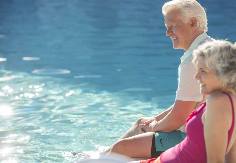 CalAm RV Resorts guests at pool
