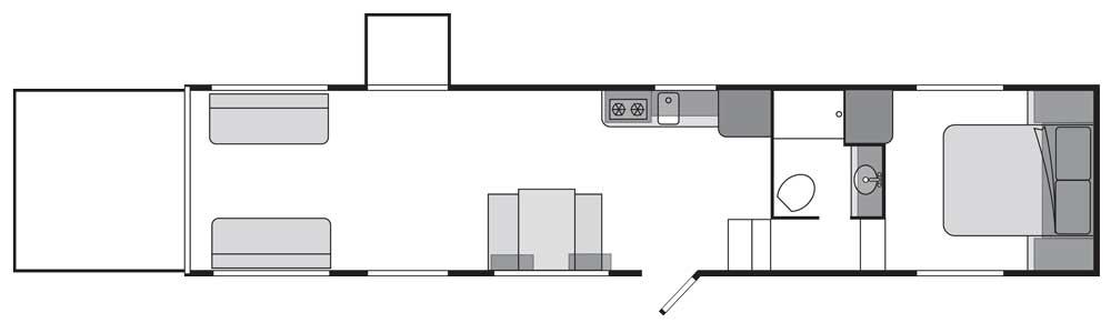 ATC fifth-wheel toy hauler floorplan