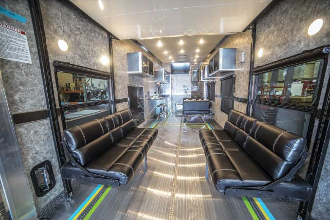 ATC Fifth Wheel toy hauler interior