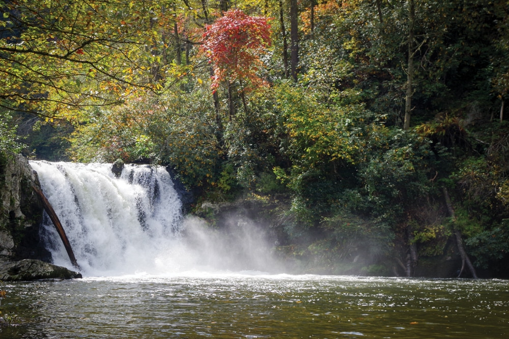 Abrams Falls, named for a Cherokee chief
