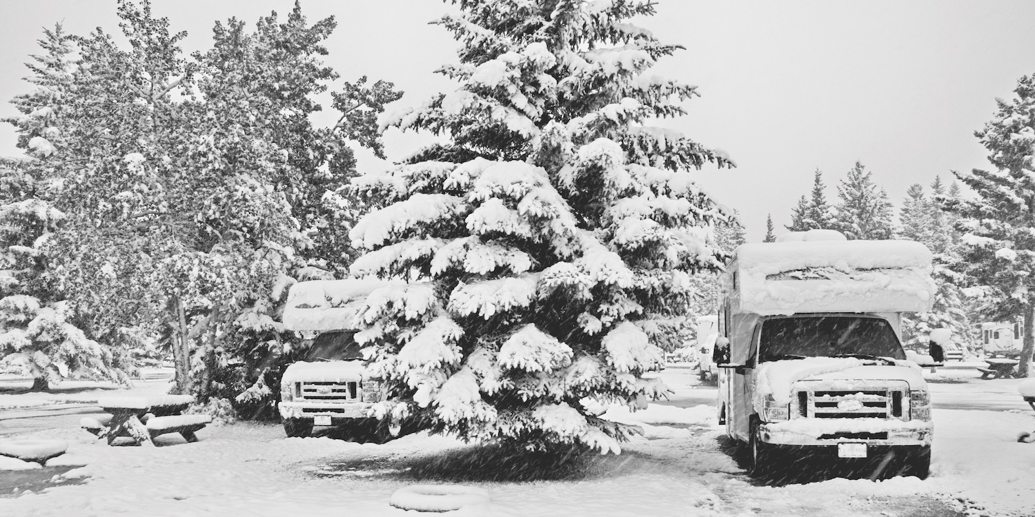 snowy winter rv camping