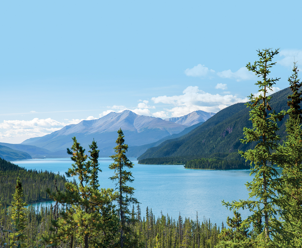 Only a few minutes' drive from the Alaska Highway, northern British Columbia's remarkably blue Muncho Lake has an eponymous provincial park with 30 dry campsites.