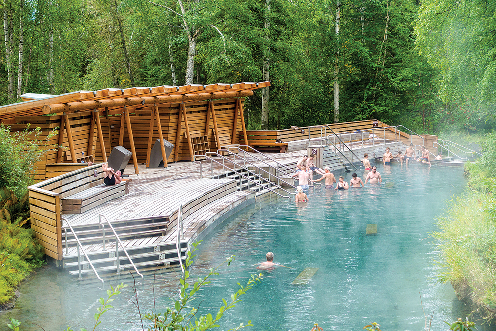 The closer you get to the Liard River's thermal springs, the hotter the water.