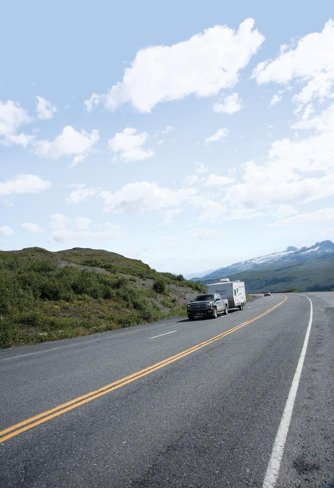 Connecting Valdez to Fairbanks, the Richardson Highway ribbons around the Chugach Mountains and the Alaska Range.