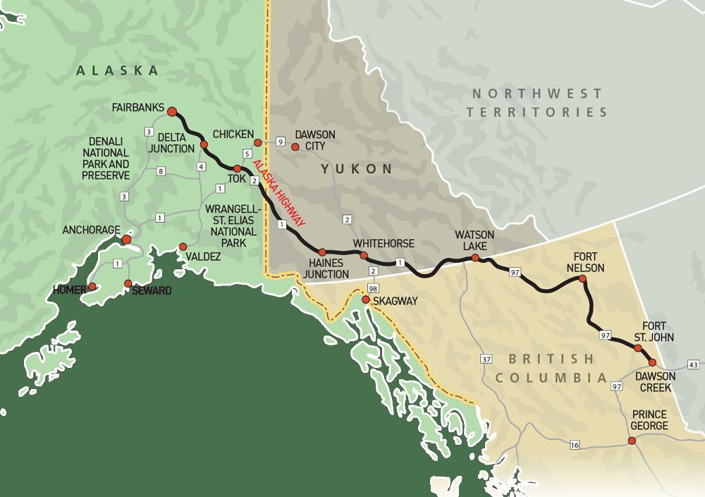 Alaska-HighwayMap