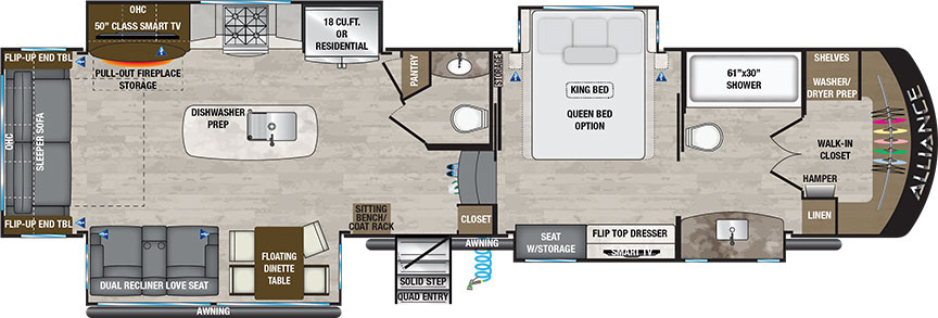 Paradigm 370FB floorplan illustration