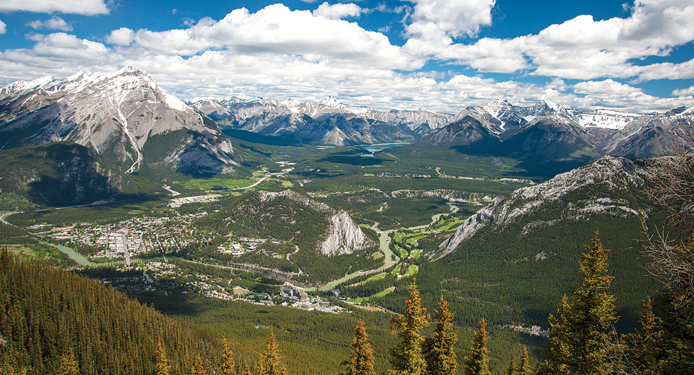The only excuses for not taking the Banff gondola to the top of Sulphur Mountain are bad weather or fear of heights. Views of the surrounding countryside are not to be missed.