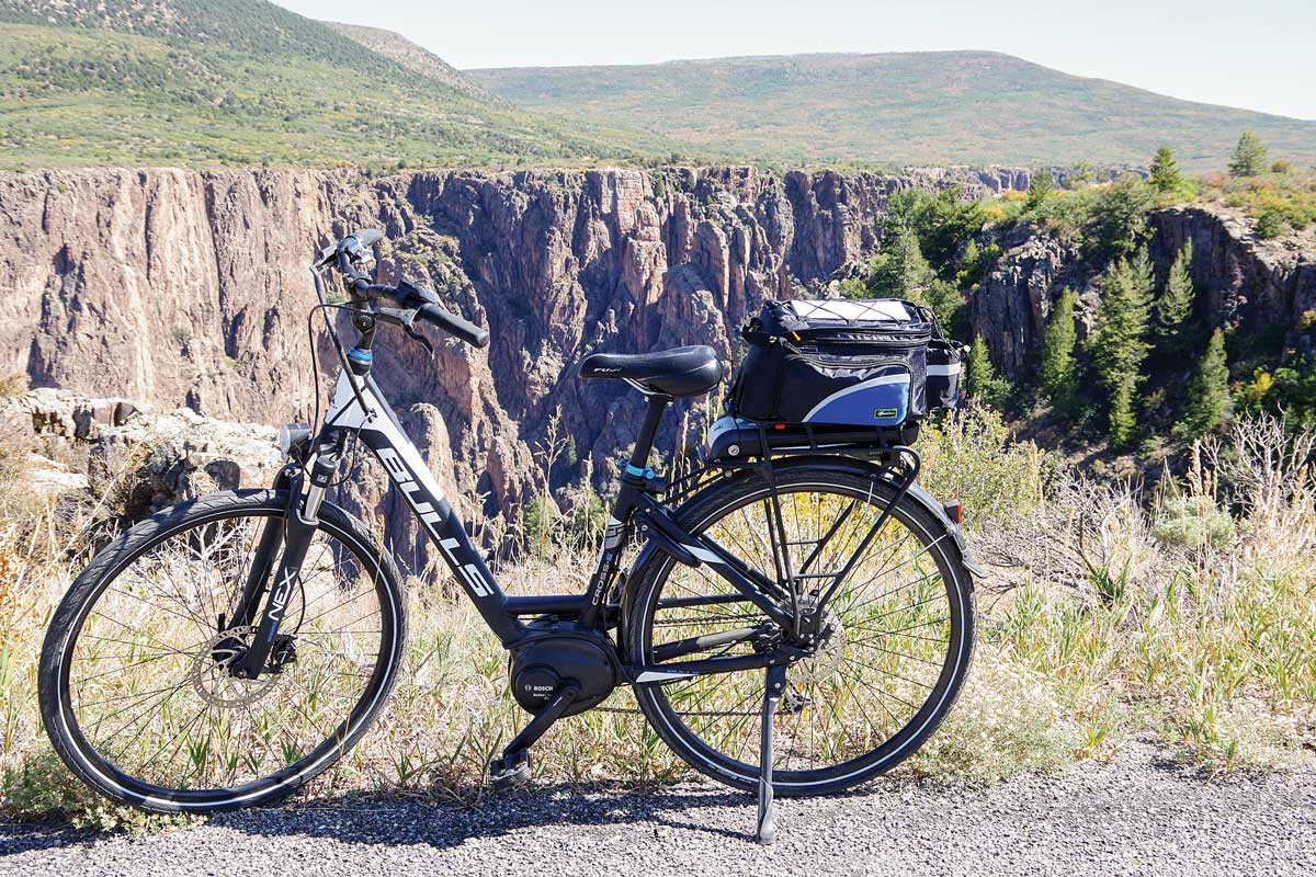 "A Bulls Cross E Wave ""commuter"" step-through frame e-bike works well for author Ruth Edelman."