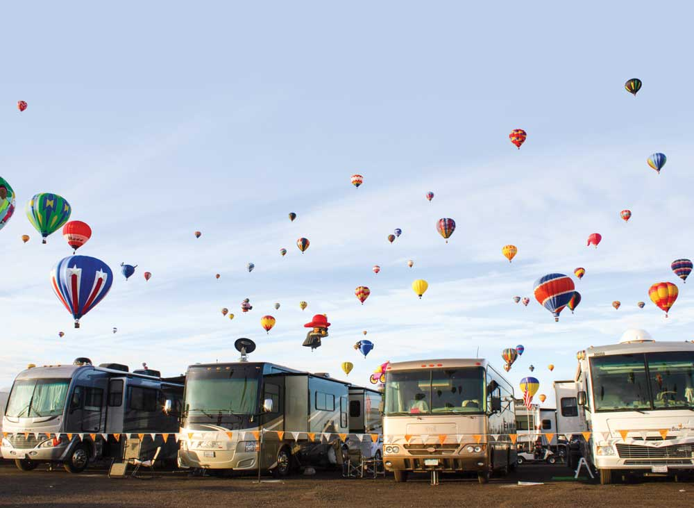 Being part of an RV rally is the best way to attend Albuquerque's International Balloon Fiesta.